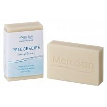 Vegane MeraSan Pflegeseife SENSITIVE parfümfrei 60g Stück