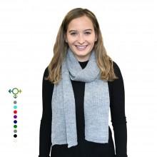 Alpaka Schal – Unisex Strickschal aus 100% Baby Alpaka, Grau