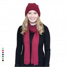 Alpaka Set Strickmütze & Schal – 100% Baby Alpaka, Unisex Design & viele Farben