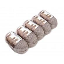 Alpacaone Baby Alpaka Wolle Knäuel 5er Pack -112m 4-4,5 Nadelstärke Nm 4/9 Strick-Häkel-Garn