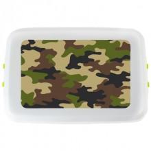 Getarnte Brotdose Camouflage aus Biokunststoff