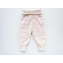 Baby Mitwachshose | Baby Pumphose Rosa geringelt