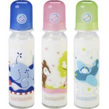 Baby Trinkflasche aus Glas mit Motiv 240 ml