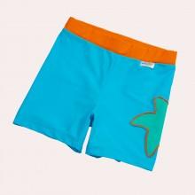 Bikinihose Meerblau mit Seestern & UV Schutz 50+ für Mädchen