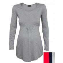 Umstandstunika – Langarmshirt – Bio Jersey