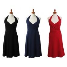 Neckholder Kleid aus Bio-Jersey von billbillundbill