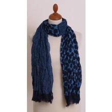 Blauer Schal mit Punkten aus Bio Baumwolle von billbillundbill