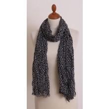 Schwarz-Weiß Schal mit Sechseck-Muster aus Bio Baumwolle von billbillundbill