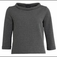 Bio Baumwoll-Pullover im Stil der 60er, Hahnentrittmuster