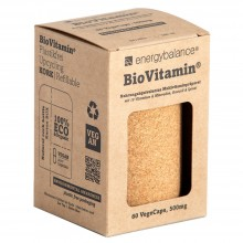 BioVitamin® natürliches, plastikfreies und bio-zertifiziertes Multivitaminpräparat zum Nachfüllen 500mg, 60 VegeCaps