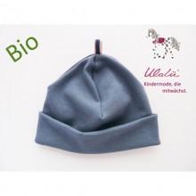 Bio Baby Beanie und Jungenmütze Blau
