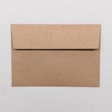 Öko Briefumschläge C6 aus Recycling Papier, braun ohne Fenster im 5er Set