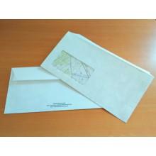 DRP Briefumschläge DIN lang mit Fenster und Klebestreifen – 20 Stück