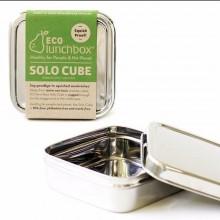 Edelstahl Brotdose quadratisch mit Deckel – Solo Cube