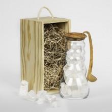 Wasserkrug Cadus für Solekur mit Olivenholz-Löffel und Stöpsel