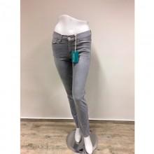 bloomers Gerade Damen Bio Jeans mit Dehnbund in Hellgrau