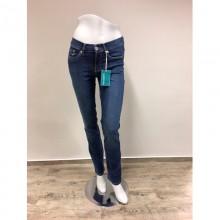 bloomers Gerade Damen Bio Jeans mit Dehnbund in Jeansblau