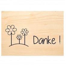 Sag's mit Natur Holzkarte – DANKE – PEFC Buchenholz