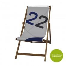 Weiß-Blau Deckchair »Transatlantic 22« aus Segeltuch – individualisierbar