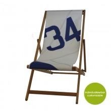 Deckchair »Transatlantic 34« aus recycelten Segeln oder neuem Canvas – individualisierbar