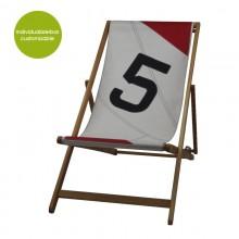 »Transatlantic 5« Deckchair aus recyceltem Segeltuch oder neuem Canvas – individualisierbar