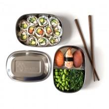 Doppellagige Lunchbox und Brotdose aus Edelstahl, Made Sustained