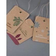 Weihnachtskarten und Geschenkanhänger im Set