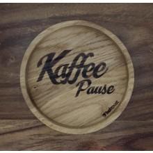 Kaffeepause– Untersetzer aus massiver Eiche