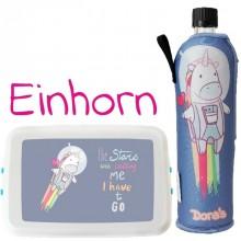 Einhorn Schul-Set: Trinkflasche & Lunchbox