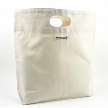 Robuste Einkaufstasche aus Bio-Baumwolle mit kurzen Henkeln