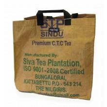 Einkaufstasche L Tamil Nadu aus recyceltem Teesack