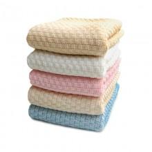 Erstlingsdecke aus Bio-Baumwolle in verschiedenen Farben, Sonnenstrick