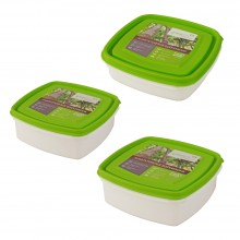 Greenline Frischhaltebox quadratisch 0,7 l / 1,25 l / 2,5 l