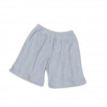 Frotteehose Hellgrau – Kinder Shorts aus Bio-Baumwolle