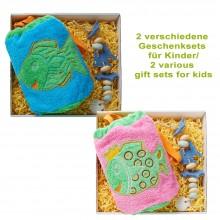 Bio Geschenkset für Kinder: Frotteebeutel & Seifenkette