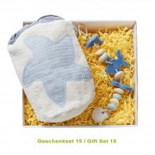 Bio Duft & Deko Geschenkset für Damen mit Natur-Seife und Kosmetikbeutel