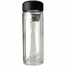 Dora's Thermoflasche aus doppelwandigem Glas