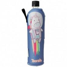 Dora's Glasflasche in Schutzhülle Sonderedition Einhorn