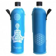 Glasflasche Dora mit Neoprenanzug Happy Yoga (limitierte Auflage)