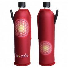 Trinkflasche Dora mit Neoprenanzug Blume des Lebens (limitierte Auflage)