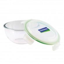Glasslock Glasschüssel & Salatschüssel mit Deckel, mikrowellengeeignet – 4000 ml