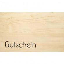 Gutschein – Holzkarte aus PEFC Buchenholz