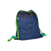 Gymbag Green Spleen - Turnbeutel aus Jeans UNIKAT