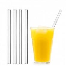 HALM Glastrinkhalme - Trinkhalme aus Glas, einzeln oder im 4er Set inkl. Reinigungsbürste