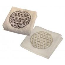 Blume des Lebens Duschhandtuch aus Bio-Baumwolle