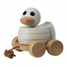 Hevea Ente Kawan - Nachziehtier und Stapelspielzeug aus Kautschukholz