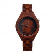Monoclemanwatch RED WOMEN Damen Armbanduhr aus rotem Sandelholz