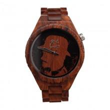 Monoclemanwatch RED MEN Herren Armbanduhr aus Sandelholz