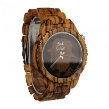 Monoclemanwatch Herren Armbanduhr aus Zebraholz