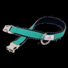 Hundehalsband aus Bio Jeans & uni Gurtband 2,5cm breit